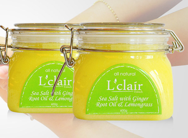 L'clair Sea Salt with Ginger Root Oil & Lemongrass 600g