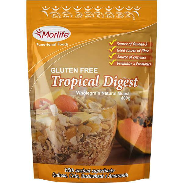 Morlife Tropical Digest - Gluten Free Wholegrain Muesli 400g
