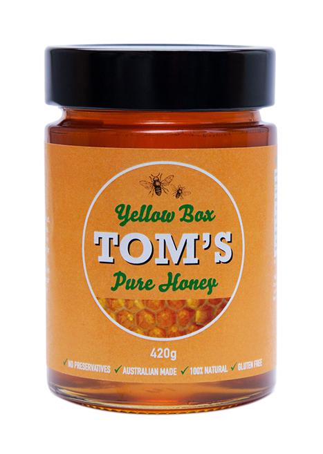 Tom's Yellow Box Pure Honey 420g