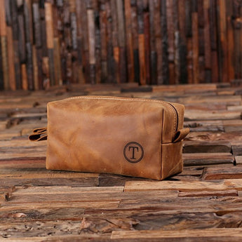Personalized Pure Leather Dopp Kit
