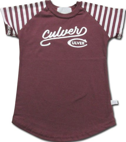 Culver Toddler Striped Sleeve Tee