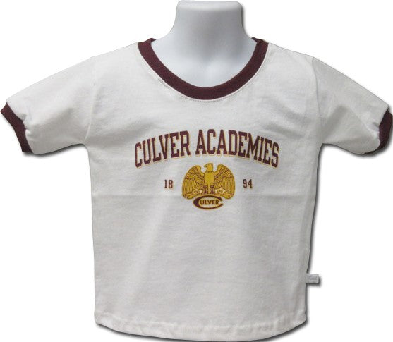 Culver Eagles Retro Toddler Ringer Tee