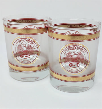 Culver Academies 15 oz Frosted Rocks Glass - Set of 2