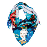 nabi, matla, silk, scarf, hand made, fashion, design , ipek şal
