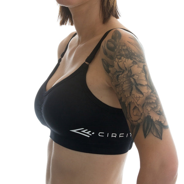 "Women's CIRFIT ""CrissCross"" Sports Bra - Black"
