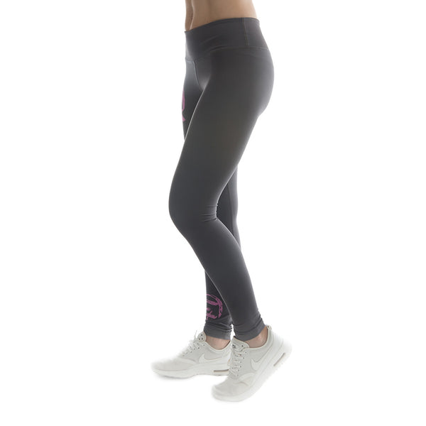 "Women's CIRFIT ""My Fitness""  Leggings - Gray/Pink"