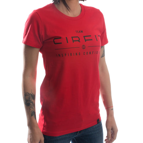 Women's CIRFIT Team Tee - Red/Black