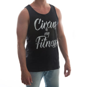 "Men's ""My Fitness"" Tank Top - Black"
