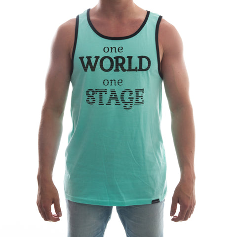 "CIRFIT Men's ""One World"" Tank Top - Celadon"