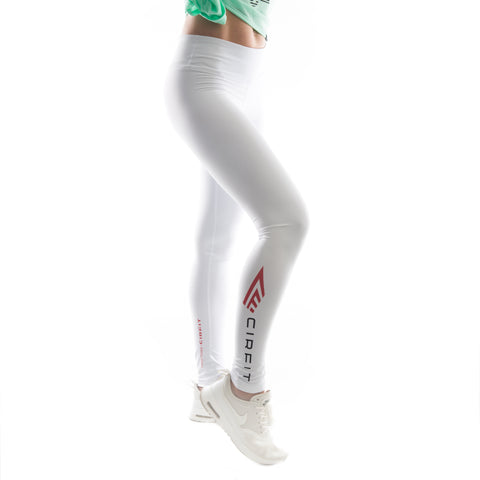 "Women's CIRFIT ""Logo""  Leggings - White"