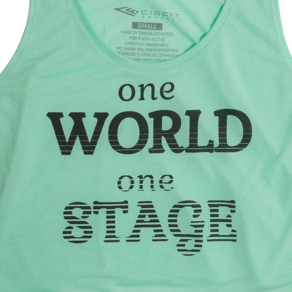 "CIRFIT Women's ""One World"" Crop - Mint"