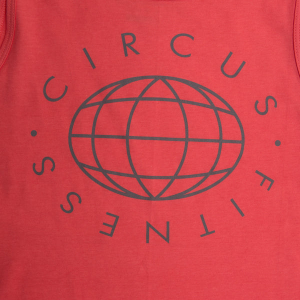 "CIRFIT Men's ""Globe"" Tank Top - Coral"
