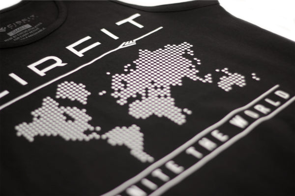 "CIRFIT Men's ""Map"" Tank Top - Black"