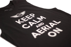 "Men's ""Aerial on"" Muscle Tee - Black"