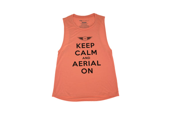 "CIRFIT Women's ""Aerial on"" Muscle Tee - Peach"