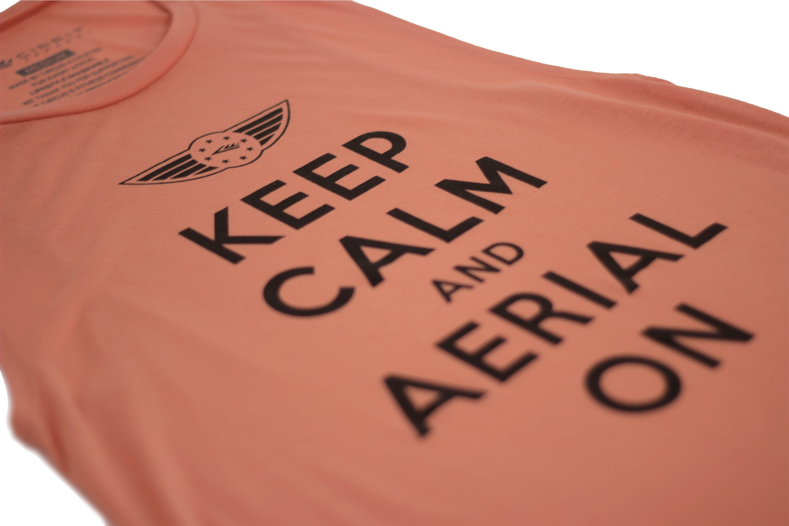 "Women's ""Aerial on"" Muscle Tee - Peach"