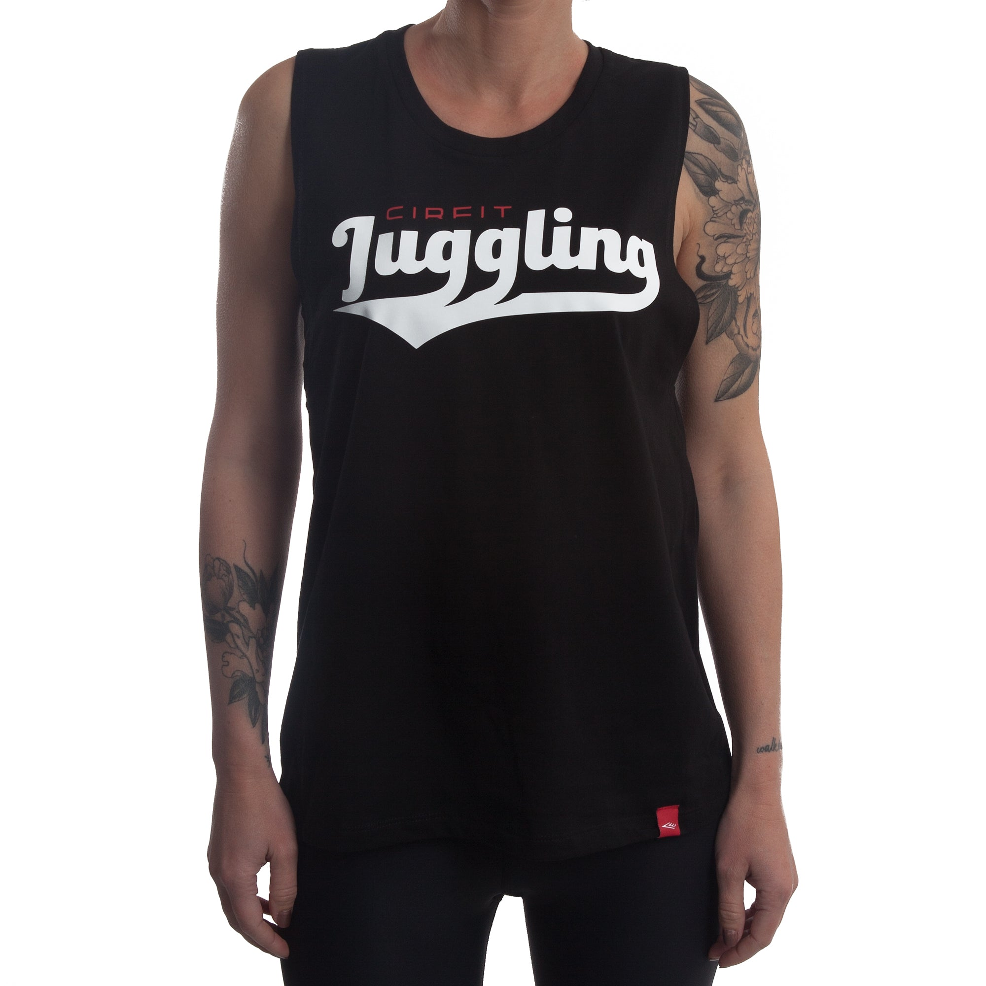 "Women's ""Juggling"" Muscle Tee - Black"