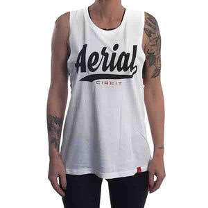 "Women's ""Aerial"" Muscle Tee - White"