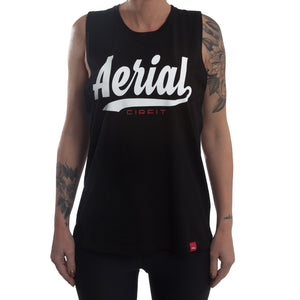 "Women's ""Aerial"" Muscle Tee - Black"
