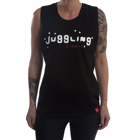 "CIRFIT Women's ""Juggling"" Muscle Tee - Black"