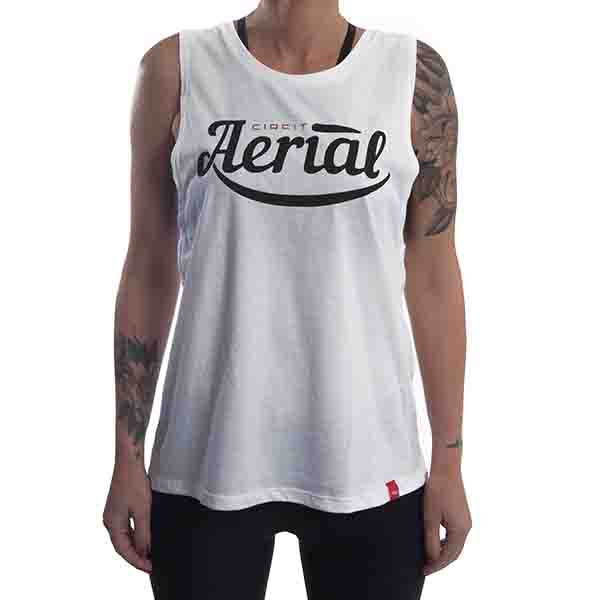 "CIRFIT Women's ""Aerial"" Muscle Tee - White"