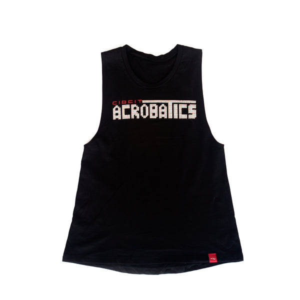 "CIRFIT Women's ""Acrobatics"" Muscle Tee - Black"
