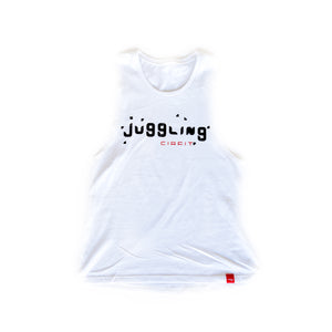 "Women's ""Juggling"" Muscle Tee - White"