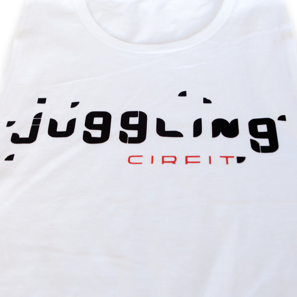 "CIRFIT Women's ""Juggling"" Muscle Tee - White"