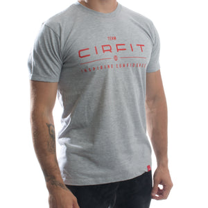 Team Logo Tee - Gray/Red
