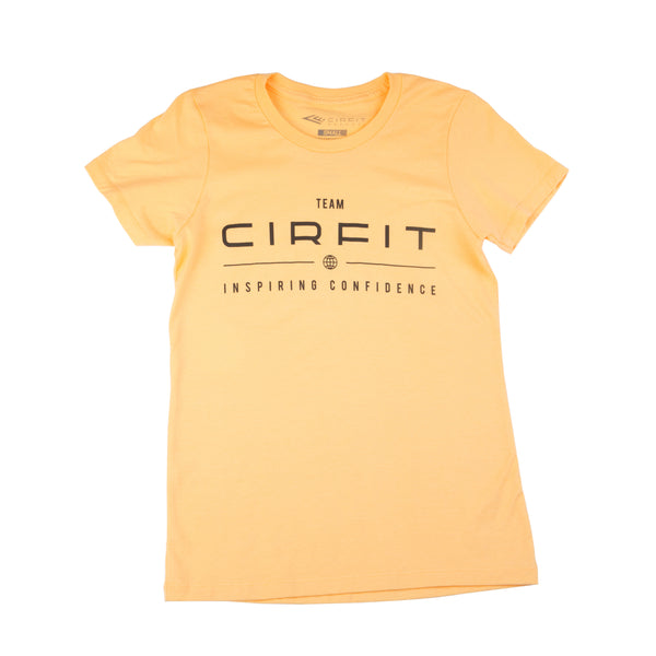 Women's CIRFIT Team Tee - Peach/Black