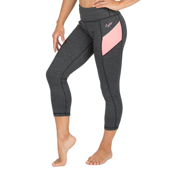 "Women's CIRFIT ""Capri""  Leggings - Gray"