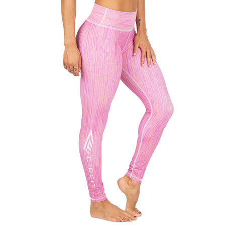"Women's CIRFIT ""Logo""  Leggings - Pink"