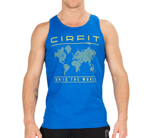 "Men's ""Map"" Tank Top - Royal Blue"