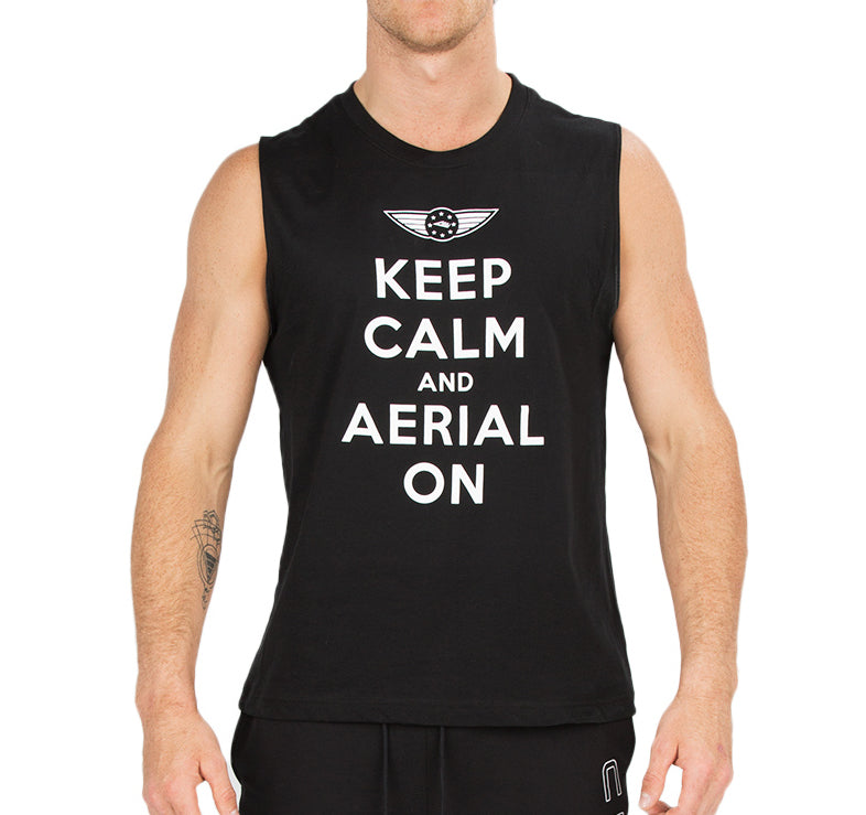 "CIRFIT Men's ""Aerial on"" Muscle Tee - Black"