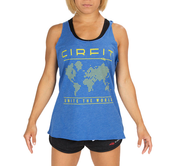 "Copy of CIRFIT Women's ""Map"" Tank - Blue"