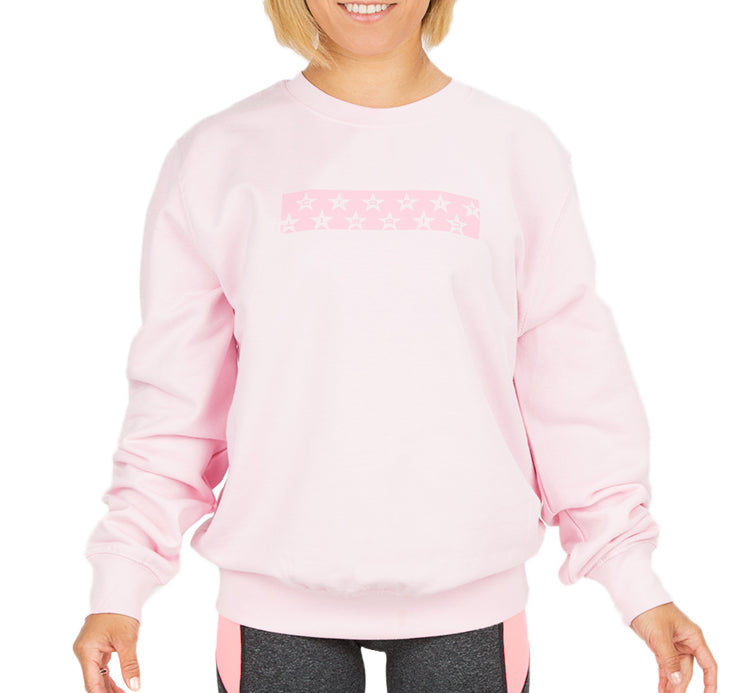 "CIRFIT Women's ""Stars"" Sweat Shirt - Baby Pink"