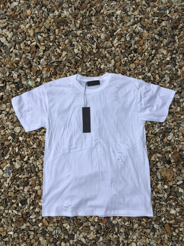 DISTRESSED TEE - STRESSED WHITE