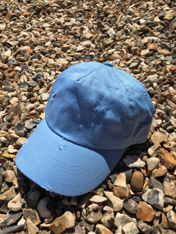DISTRESSED CAP - LIGHT BLUE
