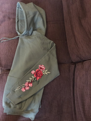 ROSE HOODIE - MILITARY GREEN