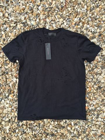 DISTRESSED TEE - STRESSED BLACK