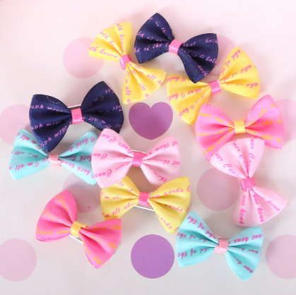 Cute and Colorful Hair Bows With Clips For Yorkies, Get 5 for 6.99 Only