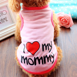 "Cute ""I Love My Mommy""  Yorkie T-Shirt, Casual Spring Collection, Soft Cotton"