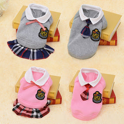 Adorable School Girl/Boy Outfit For Small Dogs