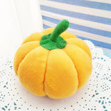 Super Cute Fruit & Vegetable Design Plush Squeaker Toy, 11 Styles To Choose From