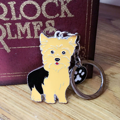Unique Yorkshire Terrier Metal Key Ring, Perfect Gift for Yorkie Parents