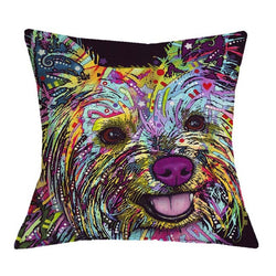 Trendy Yorkie Cushion Cover for Decorative Pillows