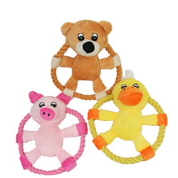 Fun Rope Plush Frisbee For Dogs, Cute Animal Designs