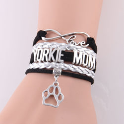 FREE Trendy Yorkie Mom Wrap Bracelet, Lovingly Handmade, With Stylish Leather and Charms