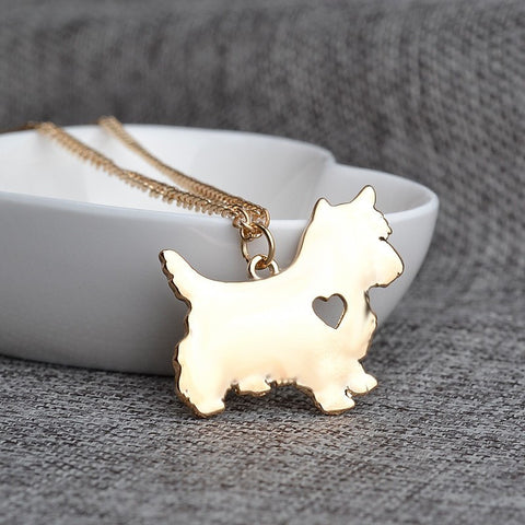 Beautiful Yorkshire Terrier Love Necklace