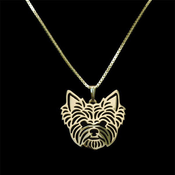 FREE Elegant Yorkshire Terrier Necklace, 18k Gold or Silver Plated